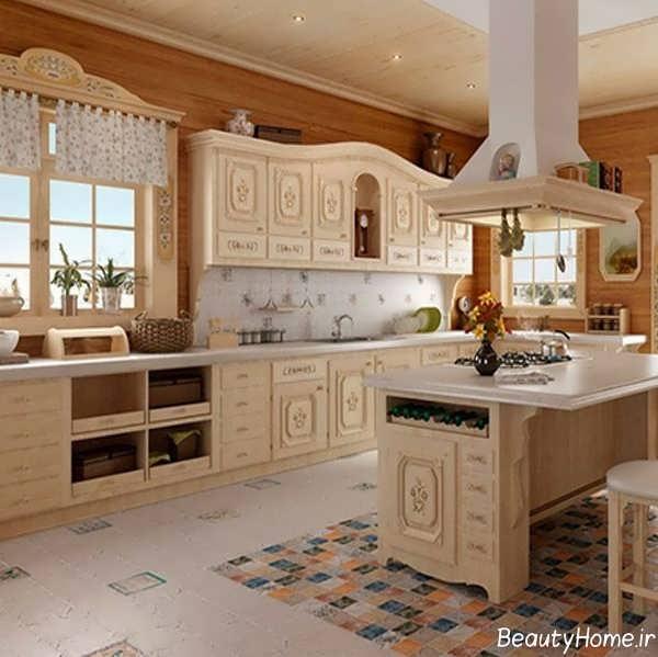 دکوراسیون آشپزخانه ایرانی سلطنتی