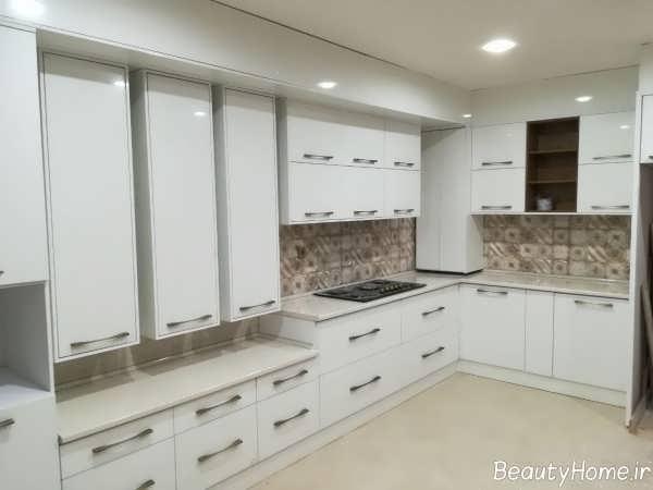 نوپردازی آشپزخانه سفید