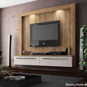 طرح میز تلویزیون دیواری