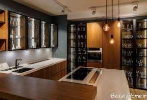 دیزاین نورپردازی آشپزخانه