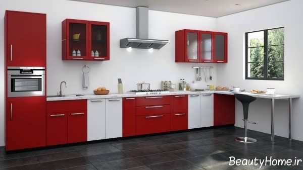 مدل کابینت دو رنگ و مدرن