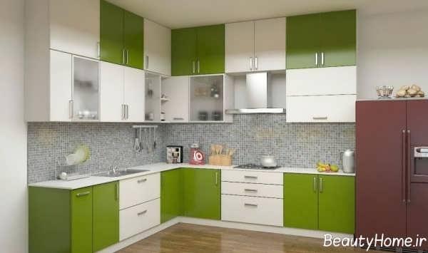 کابینت سبز و سفید