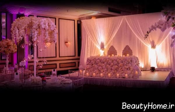 طراحی داخلی جایگاه عروس و داماد