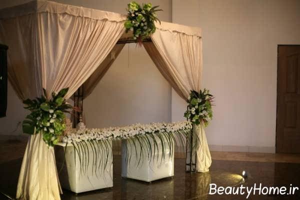 طراحی زیبا و شیک جایگاه عروس و داماد