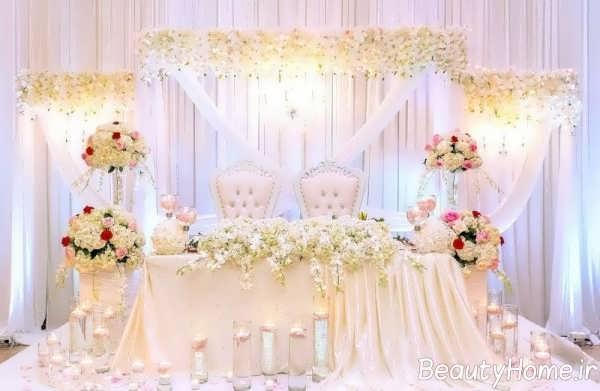 دکوراسیون داخلی جایگاه عروس و داماد