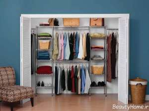 کمد دیواری زیبا و قفسه دار