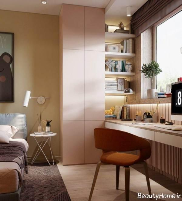 طراحی اتاق کار در اتاق خواب