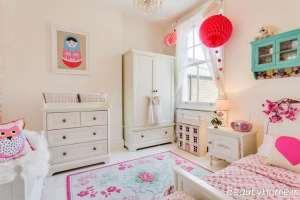 دکوراسیون اتاق دخترانه بچه گانه