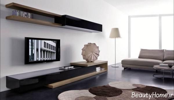 میز تلویزیون زیبا و دیواری
