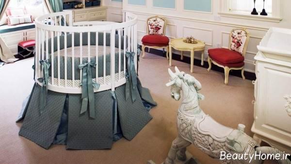 طراحی اتاق نوزاد دخترانه
