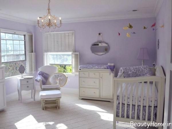 طراحی دکوراسیون اتاق برای نوزاد