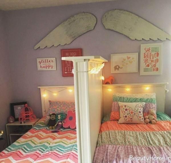 نورپردازی اتاق خواب دخترانه