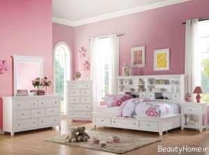 طرای داخلی اتاق خواب دخترانه