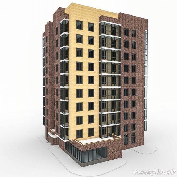 نمای دو رنگ ساختمان