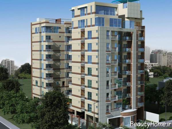 طراحی نما برای ساختمان ده طبقه