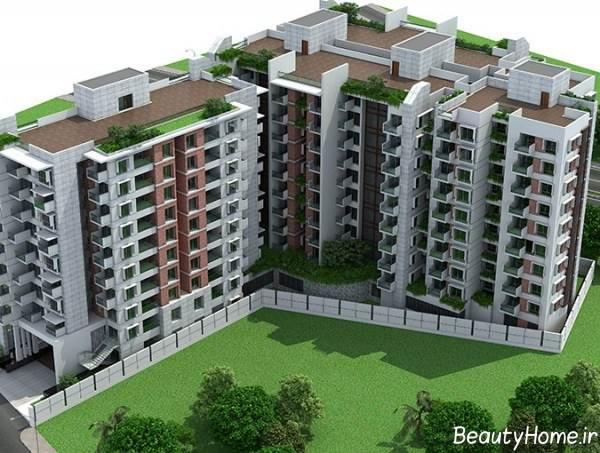 نمای خارجی و شیک برای ساختمان ده طبقه