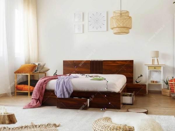 تخت خواب ساده و زیبا