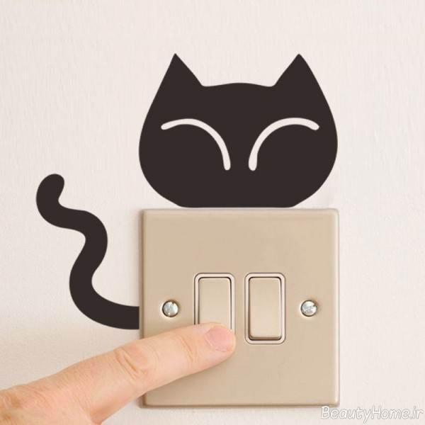 تزیین جالب و زیبا کلید برق