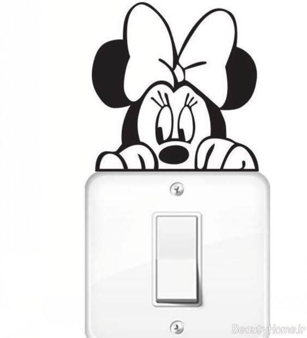 تزیین کلید برق با استیکر