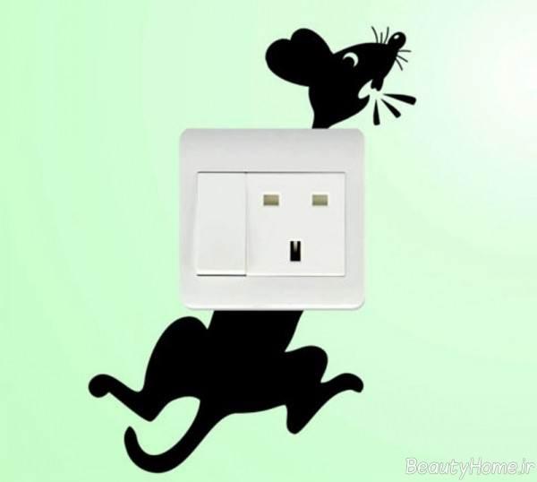 تزیین فانتزی کلید برق