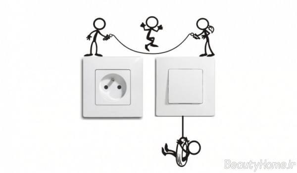 تزیینات پریز و کلید برق