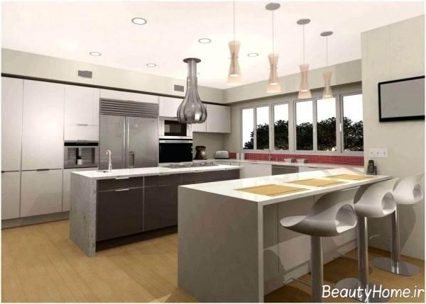 طراحی دکوراسیون شیک آشپزخانه
