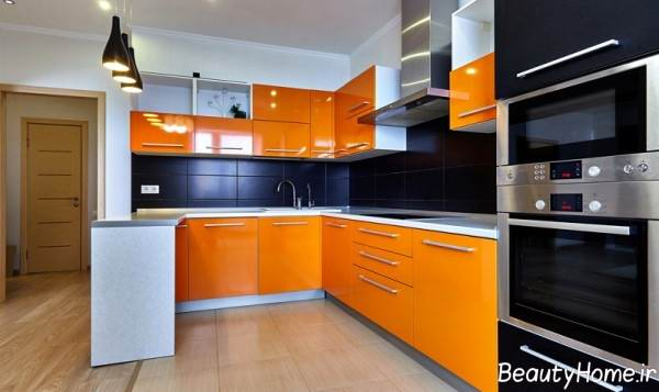 دکوراسیون آشپزخانه نارنجی