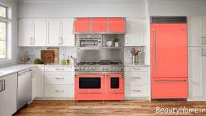 دکوراسیون آشپزخانه رنگی