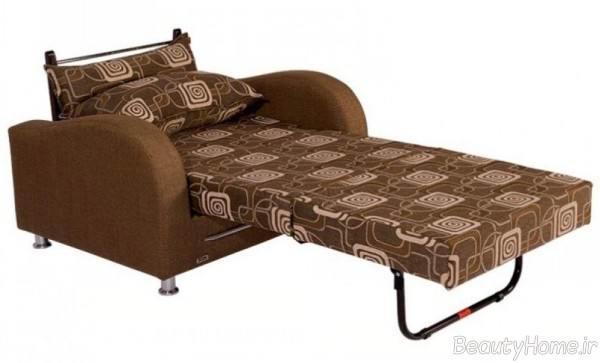 مبل طرح دار تختخواب شو