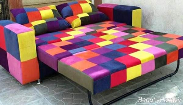 مبلمان طرح دار تختخواب شو