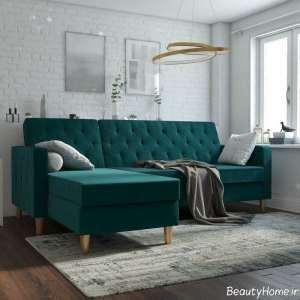 مبل تختخواب شو سبز