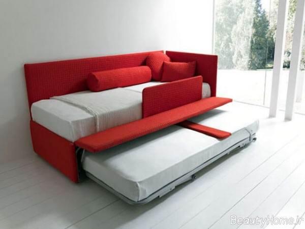 مبلمان زیبا و شیک تختخواب شو