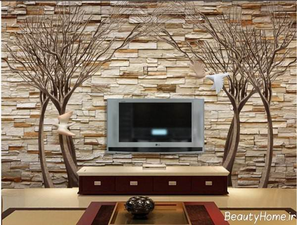 کاغذ دیواری طرح دار و زیبا