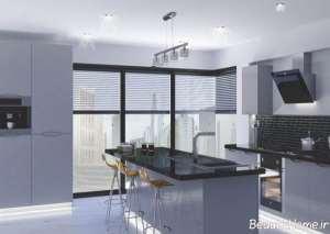 دکوراسیون نقره ای آشپزخانه