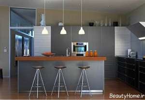 دکوراسیون آشپزخانه نقره ای