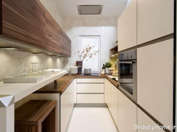 دیزاین آشپزخانه رنگ روشن