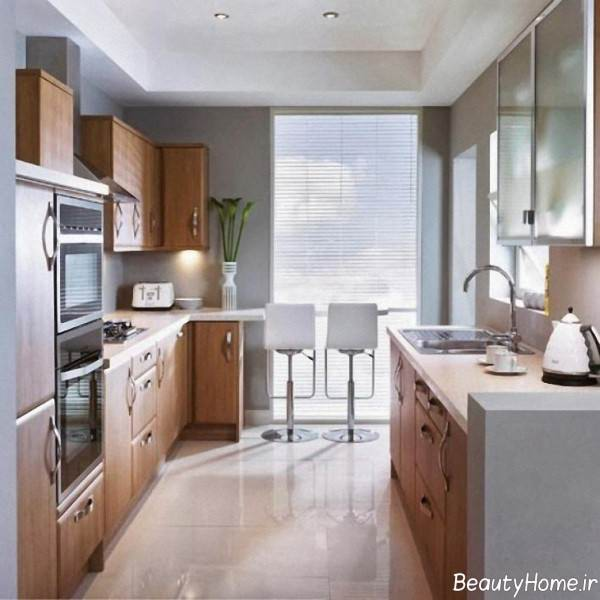 طراحی داخلی آشپزخانه باریک