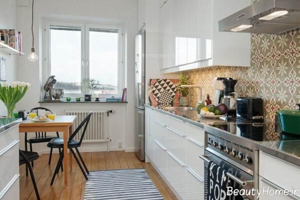 دیزاین داخلی آشپزخانه دراز