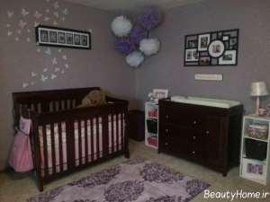 تزیین دیوار اتاق نوزاد با روش های خلاقانه