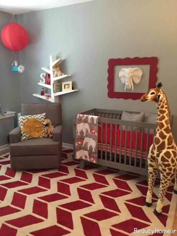 تزیین شیک برای اتاق نوزاد دختر