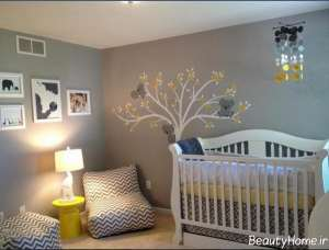 نقاشی روی دیوار برای اتاق نوزاد