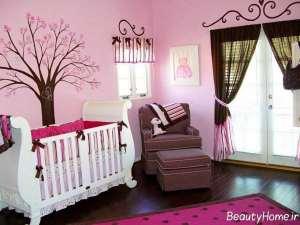 تزیین دیوار برای اتاق نوزاد