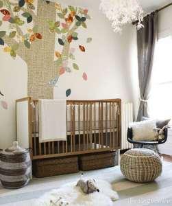 تزیین دیوار اتاق برای نوزادان دختر و پسر
