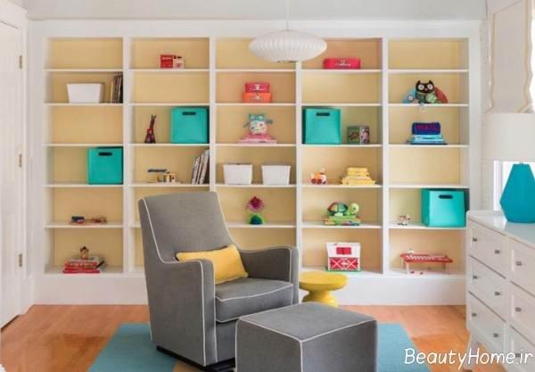 تزیین زیبا دیوار اتاق نوزاد