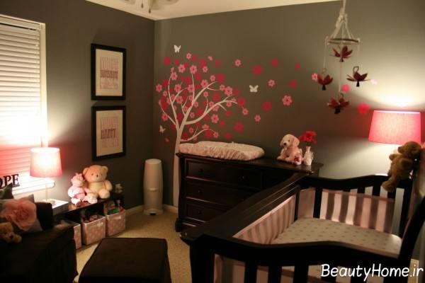 تزیین زیبا اتاق نوزاد
