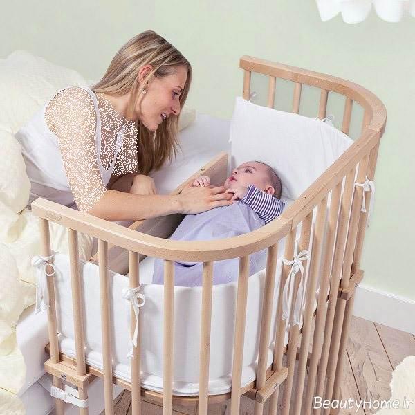 تخت خواب زیبا برای نوزاد