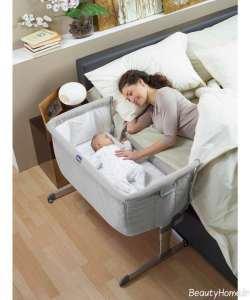 تختخواب زیبا و ساده نوزادی