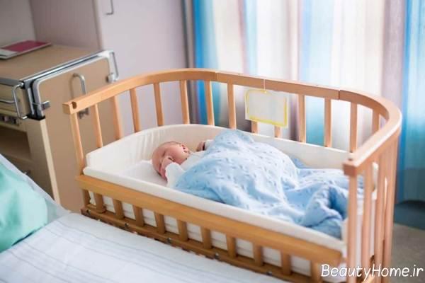تخت خواب ام دی اف نوزاد