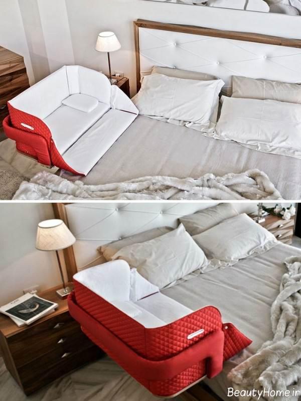 تختخواب ساده و زیبا نوزادی