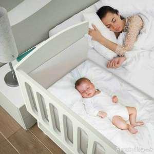 تختخواب سفید نوزادی